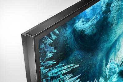 Stranski posnetek televizorja s prikazom ozkega okvirja