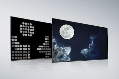 Zadnja plošča in zaslon običajnega televizorja Full Array LED