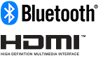 Logotipa tehnologij Bluetooth in HDMI