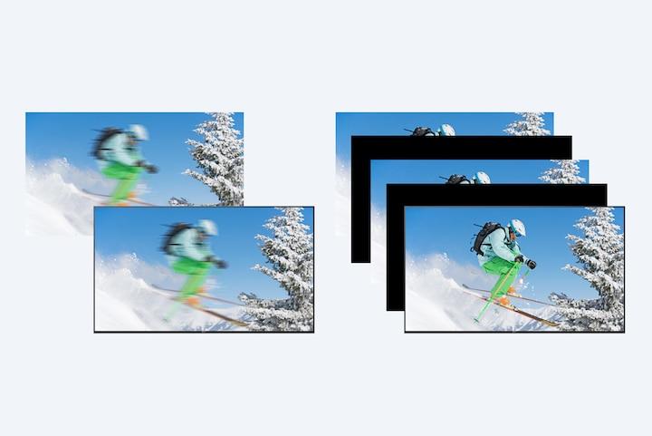 Manj zamegljenosti, celo v hitrih prizorih s tehnologijo Motionflow