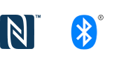Logotipa za Bluetooth® in NFC