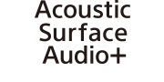 Logotip tehnologije Acoustic Surface Audio+