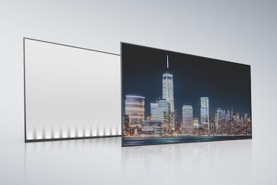 Zadnja plošča in zaslon LCD Edge
