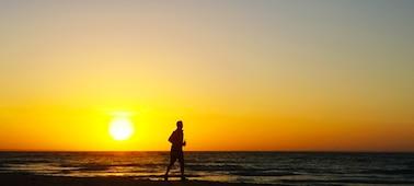 Slika sončnega zahoda in morja s tehnologijo XR Smoothing za 4K