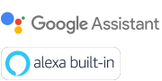 Logotipa za Google Assistant in Alexa built-in