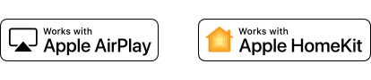Logotipi tehnologije Apple AirPlay in Apple HomeKit
