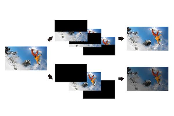 Podrobnost na avtomobilu med hitro vožnjo s tehnologijo X-Motion Clarity