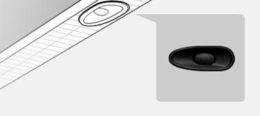 Slika, ki prikazuje podrobnost lokacije zvočnika X-balanced speaker™