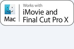 Deluje z iMovie in Final Cut Pro X